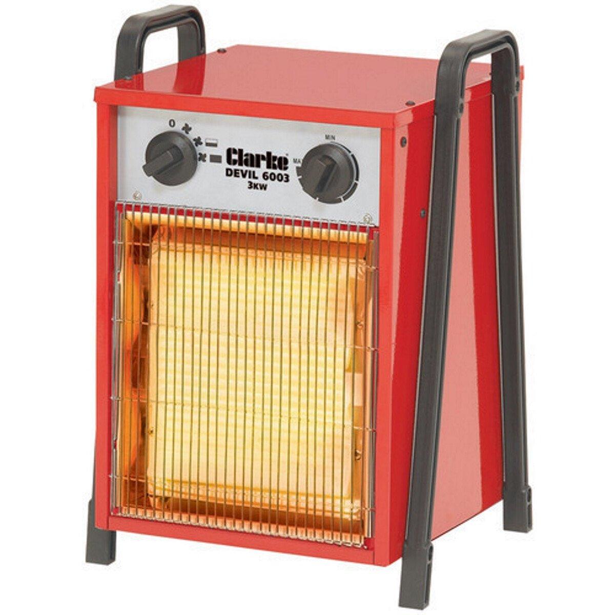 Clarke Devil 6003 Industrial 3kW Electric Fan Heater 1Ph 6925220