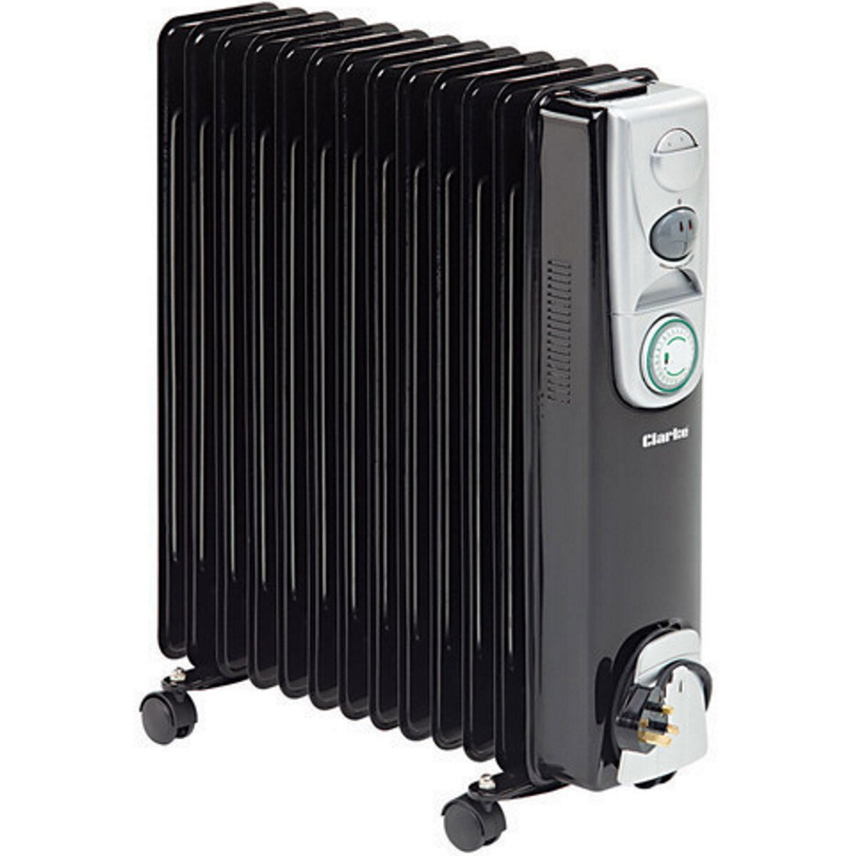 Clarke BR13 2.5kW 13 Fin Black Oil Filled Radiator 6934011