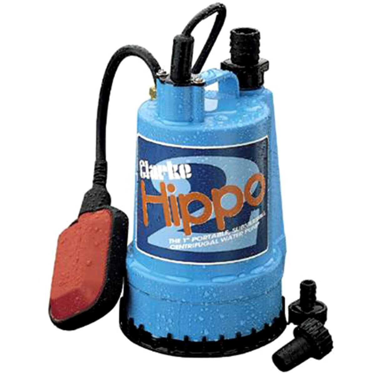 "Clarke 7230024 Hippo 2 Clean Water 250W 230v 1"" Submersible Water Pump with Float Switch"