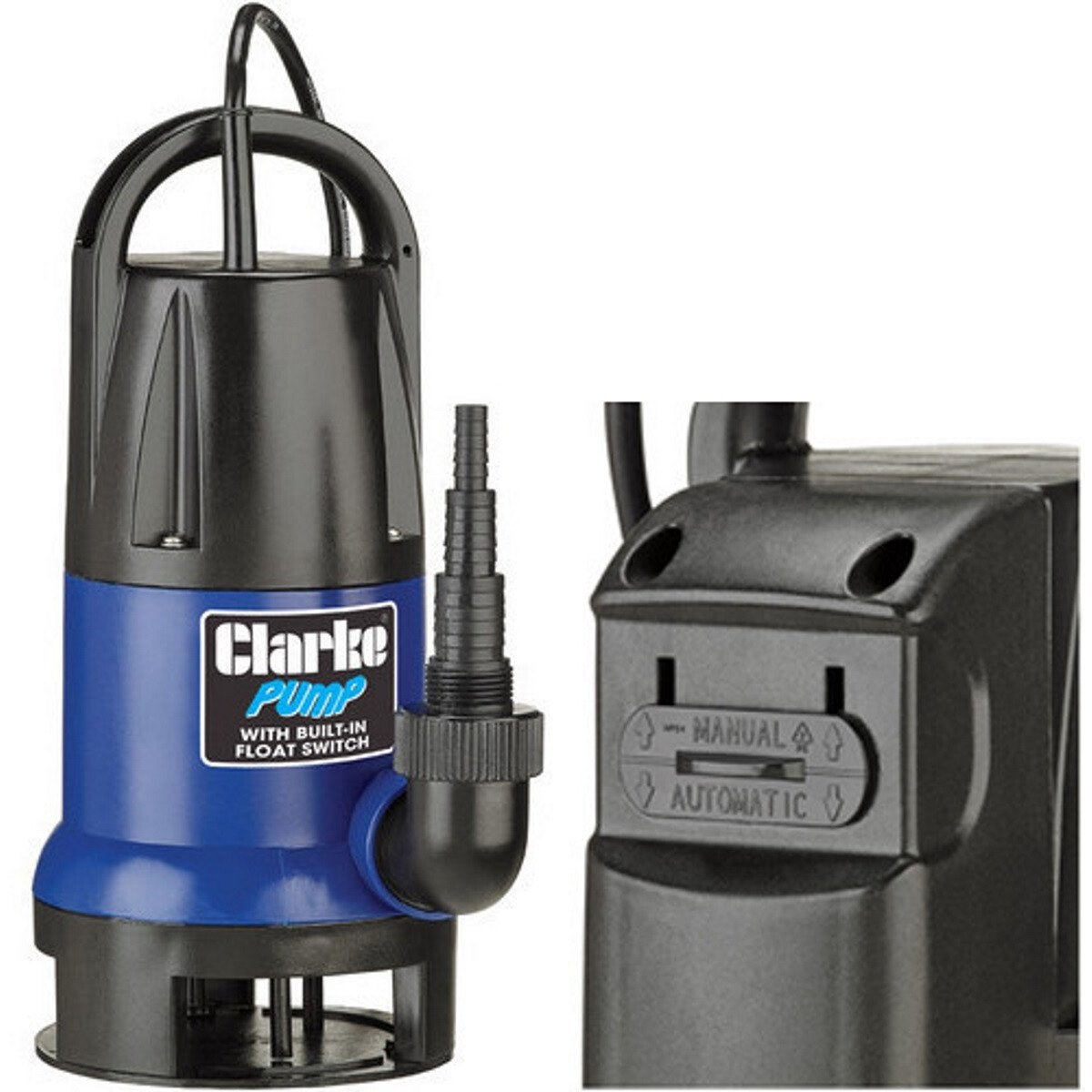 Clarke PSV5A  Dirty Water Submersible Pump with Integrated Float Switch 750W 230V 7236046
