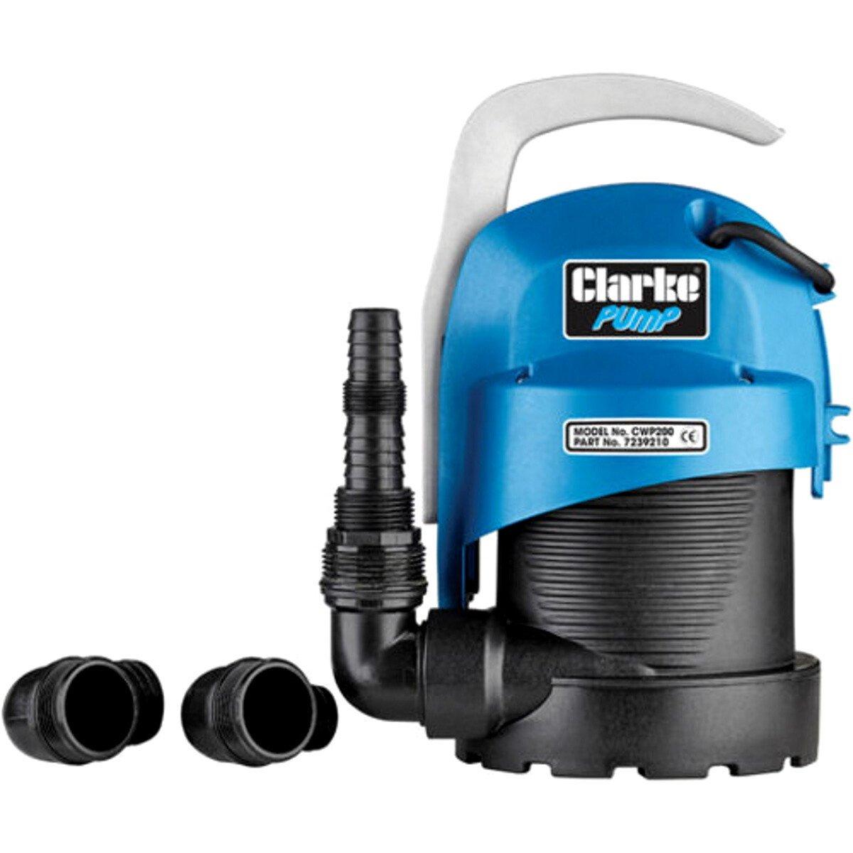 "Clarke CWP200 1¼"" 220W 95Lpm 5.5m Head Clean Water Submersible 230V 7239210"