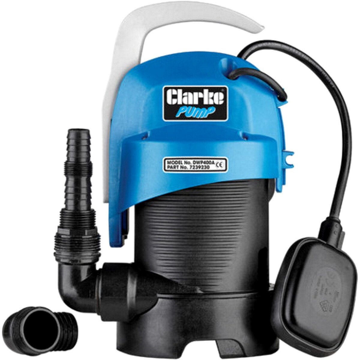 """Clarke DWP400A 1¼"""" 440W 140Lpm 7m Head Clean and Dirty Water Submersible 230V 7239230"""