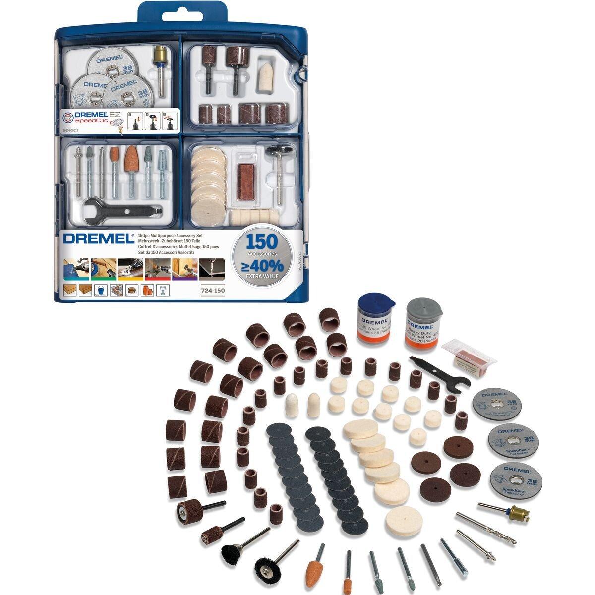 Dremel 2615S724JA 150 Piece Multipurpose Accessory Set
