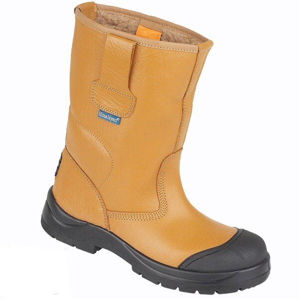 Himalayan 9102 Tan HyGrip Fleecy Warm Lined Rigger Safety Boot S1P SRC