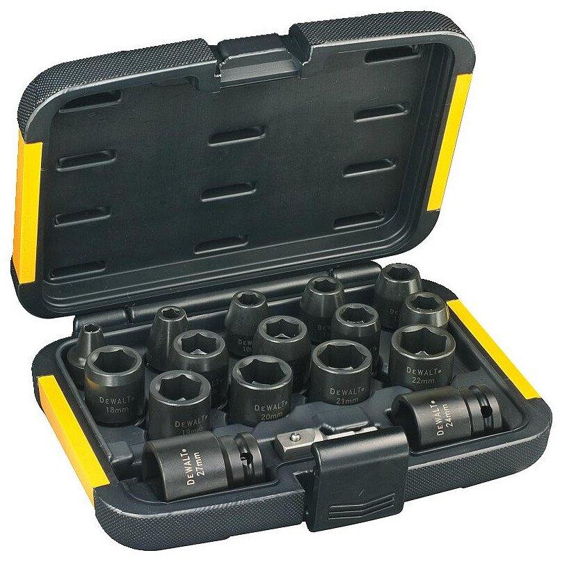 "DeWalt DT7506-QZ Set of 1/2"" Drive Impact Sockets 17 Piece"