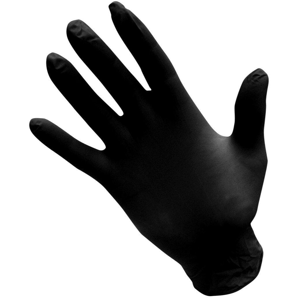 Draper 31035 Large Black Powder Free Nitrile Gloves (Pack of 100)