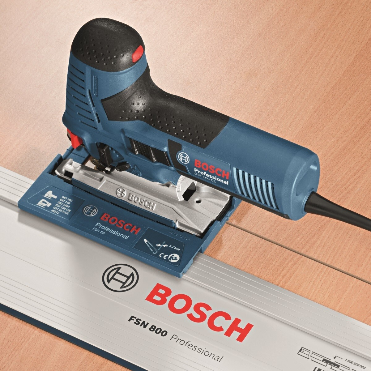 bosch gst 160 ce 160mm professional jigsaw 230v from. Black Bedroom Furniture Sets. Home Design Ideas