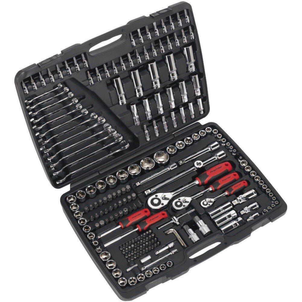 """Sealey AK7956 Socket Set 216 Piece 1/4"""", 3/8"""" & 1/2"""" Drive 6 Point WallDrive® Metric"""