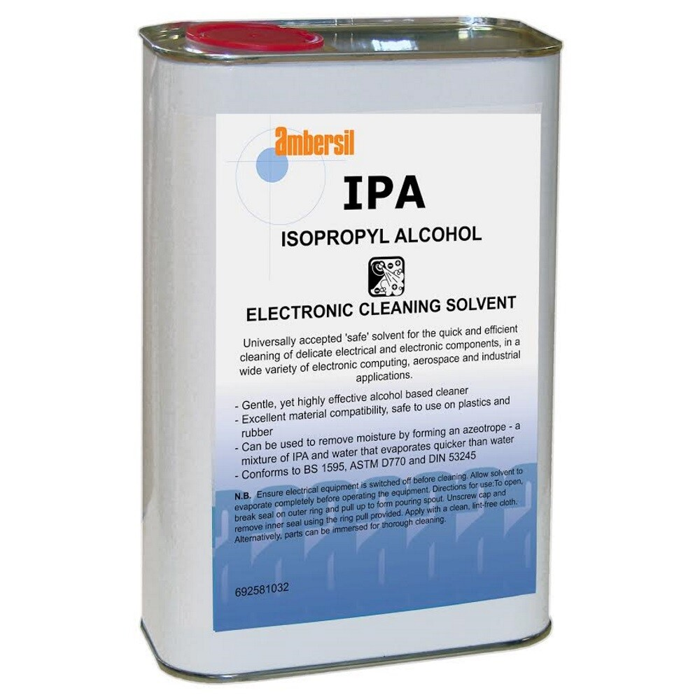 Ambersil 31714-AA IPA Isopropyl Alcohol Electronic Cleaning Solvent 1ltr  (Carton of 12)
