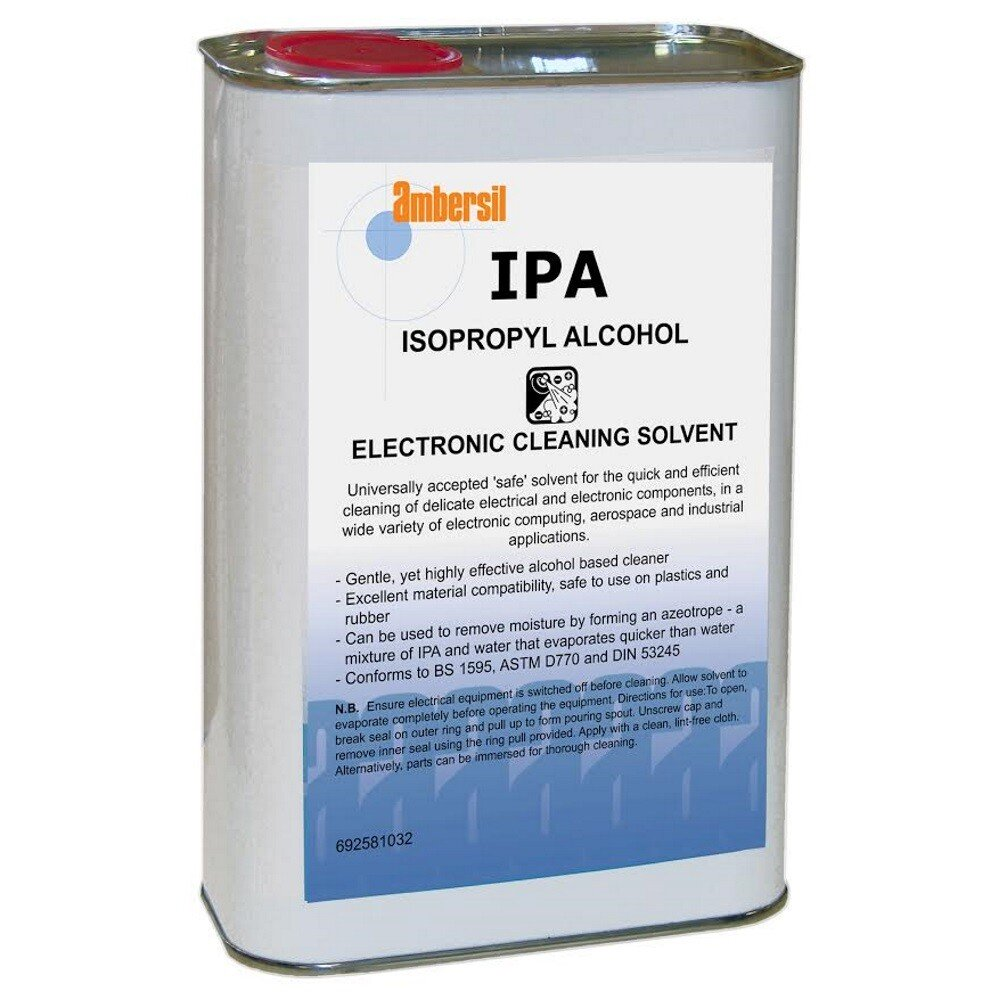 Ambersil 31714-AA IPA Isopropyl Alcohol Cleaning Solvent 1ltr
