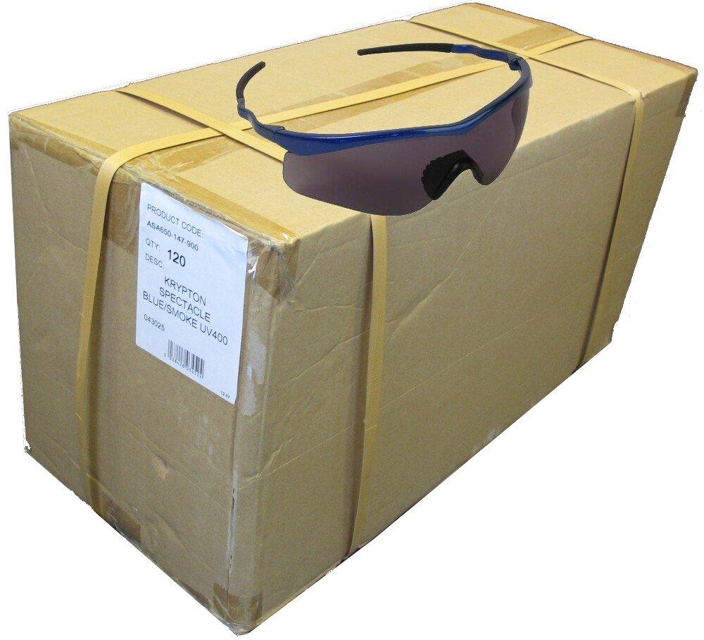 JSP ASA650-147-900 (Carton of 120 pairs) Krypton Blue/Smoke Safety Spectacles