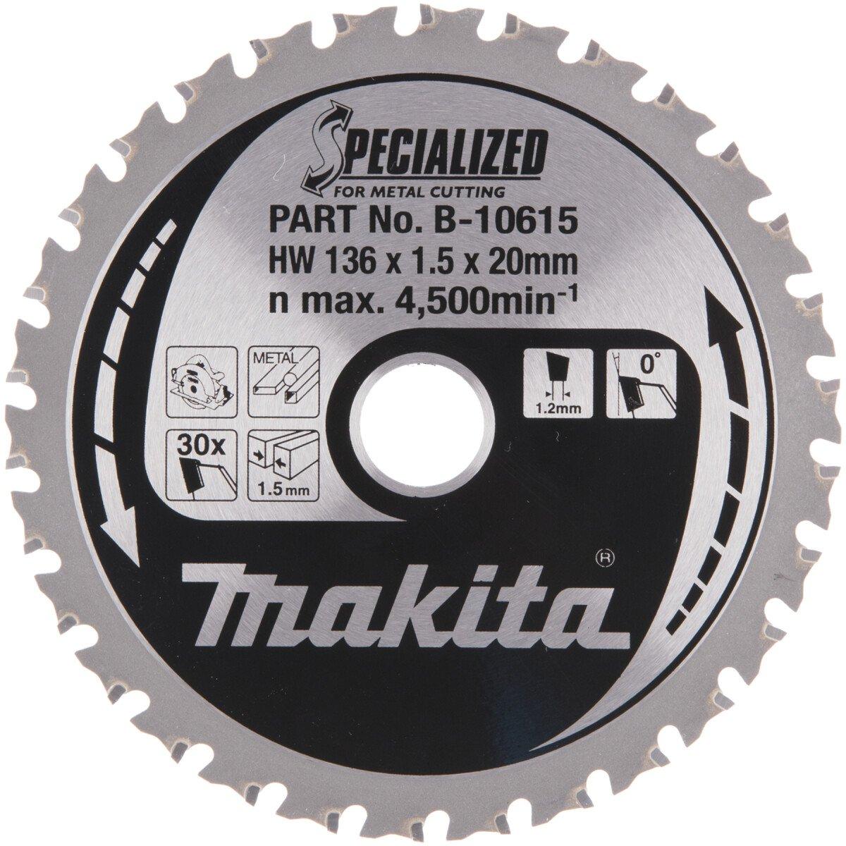 Makita B-10615 136mm x 30T Blade for Mild Steel