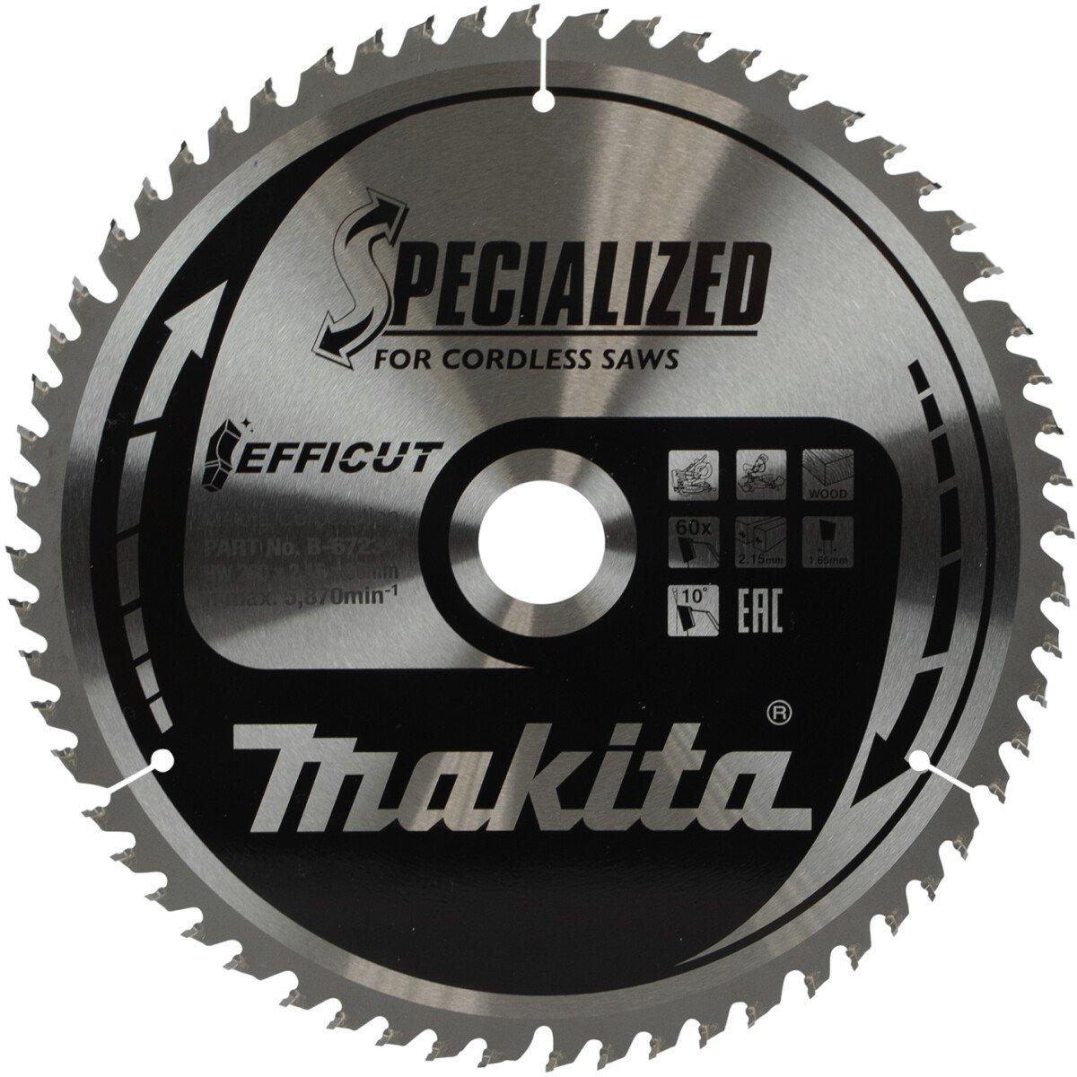 """Makita B-67234 260 x 30mm 60T  Saw Blade """"Efficut"""""""