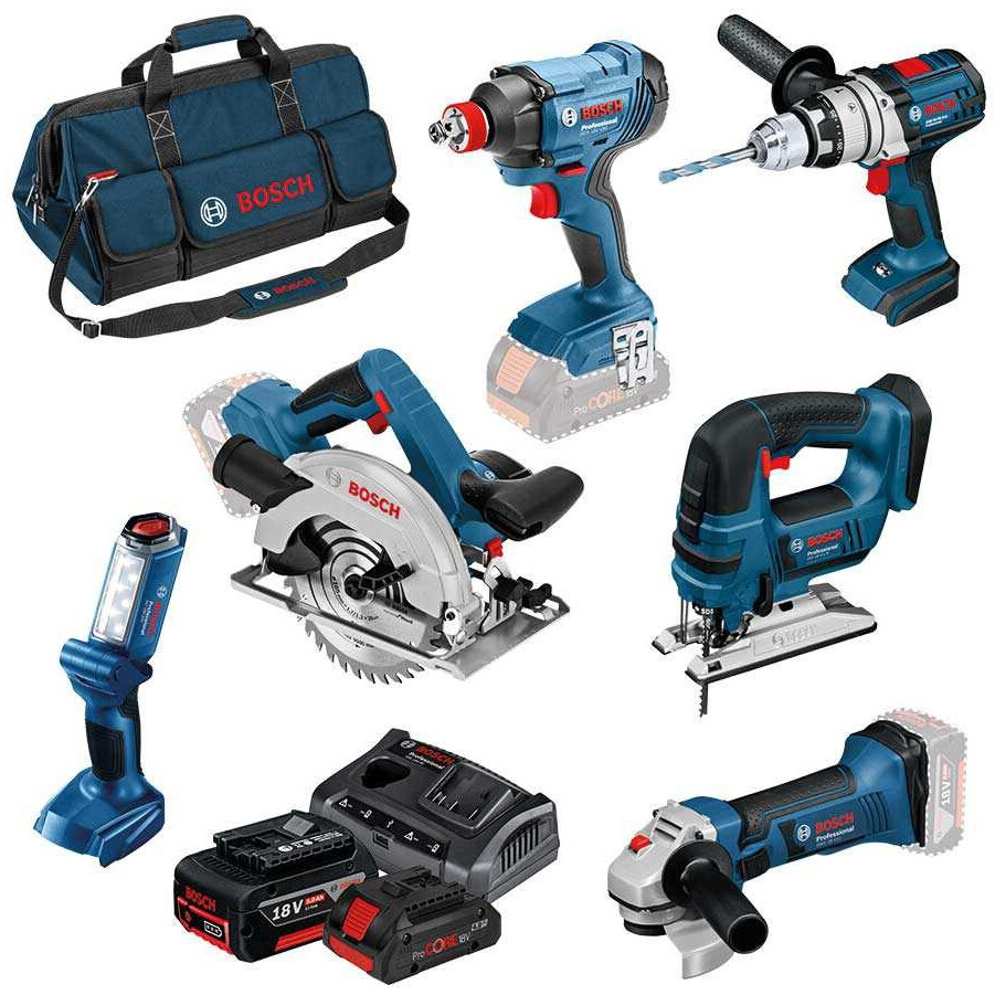 Bosch LBAG64 18v 6pc Kit (3x4.0+GAX 18 V-30;LBAG) BAG+6 RS