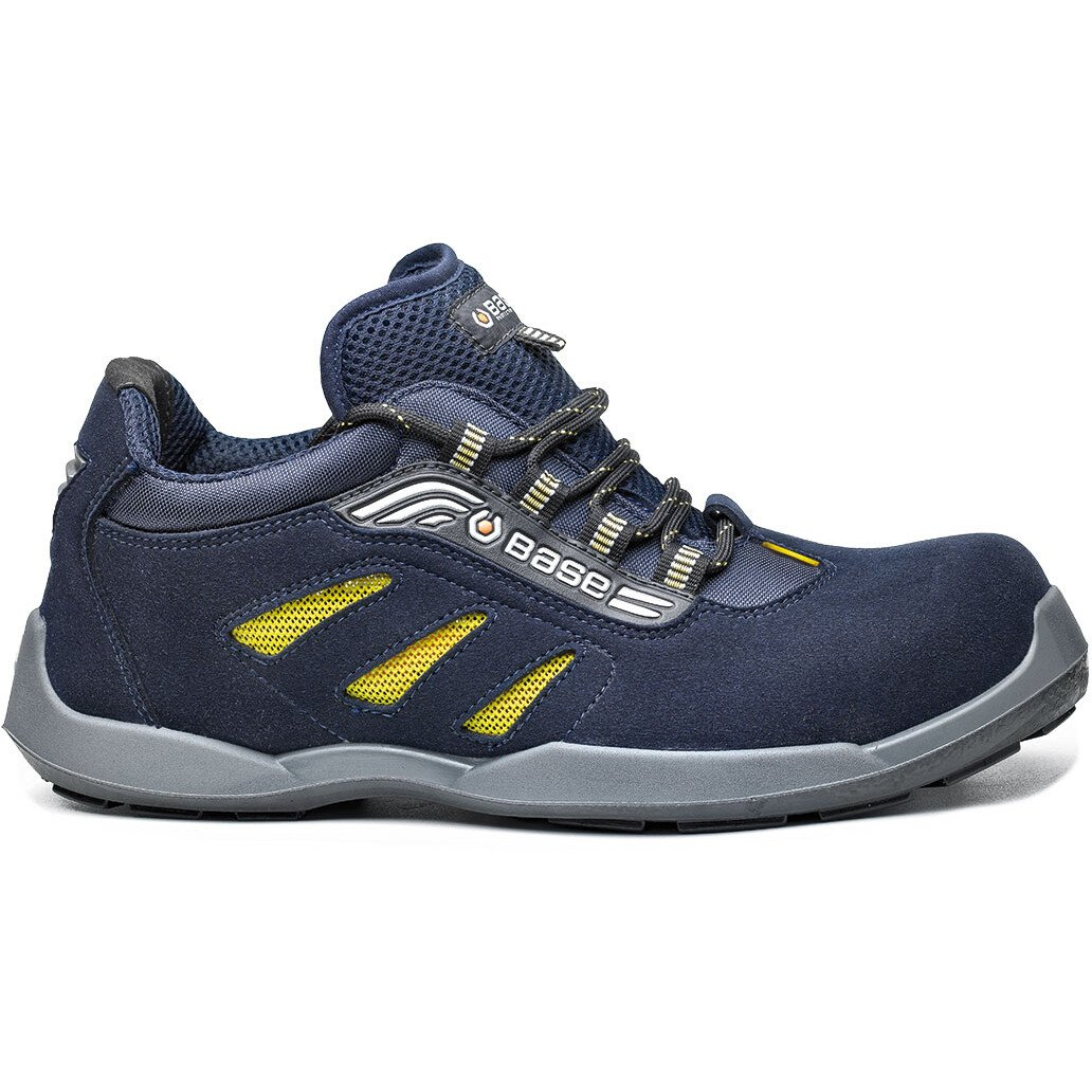 Portwest Base B0647 Record Frisbee Safety Shoes - Blue/Yellow
