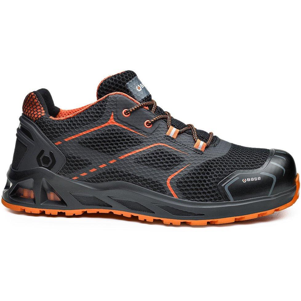 Portwest Base B1004 K-Step Safety Shoe Aluminium Toe-Cap - Black/Orange