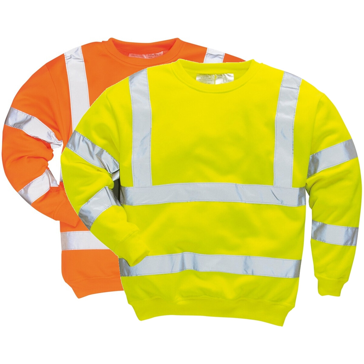 9fafe08cd Portwest B303 Hi-Vis Sweatshirt High Visibility - Yellow or Orange from  Lawson HIS