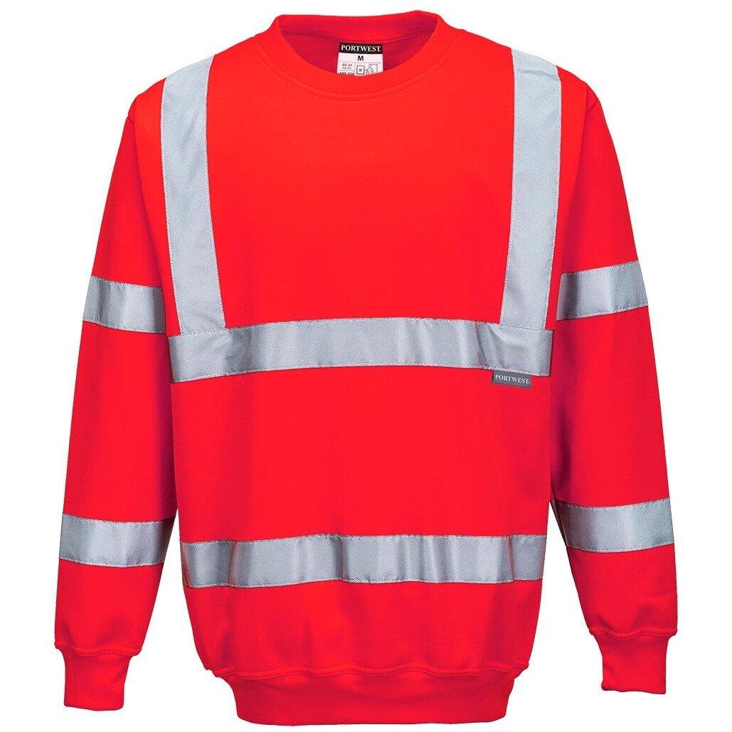 Portwest B303 Hi-Vis Sweatshirt High Visibility - Red