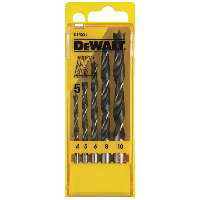 DeWalt DT4535-QZ Brad Point Drillbits - Set 5pc