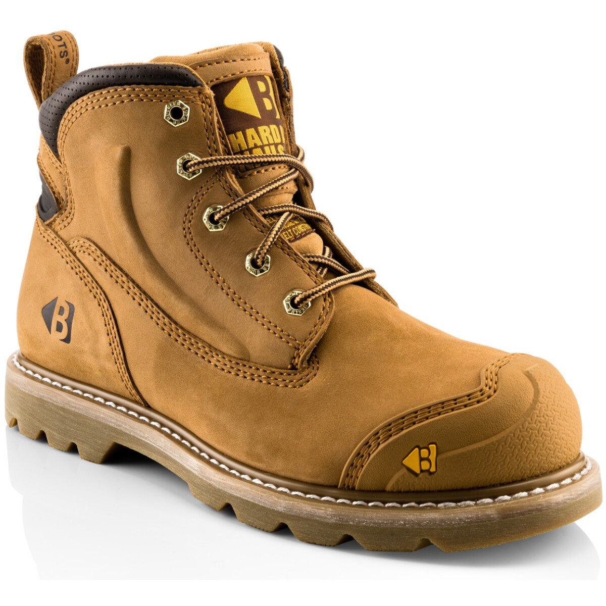 Buckler Boots B650SM Honey Nubuck Leather Goodyear Welted Safety Boot SB P HRO SRC