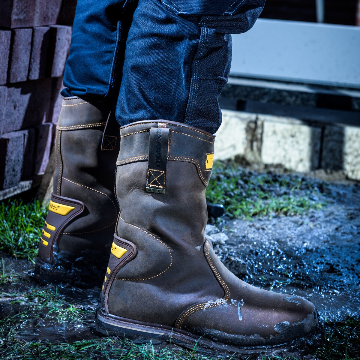0d77b3e846a Buckler Boots B701SMWP Hard as Nails Brown Safety Rigger Boot S3 HRO WRU SRC