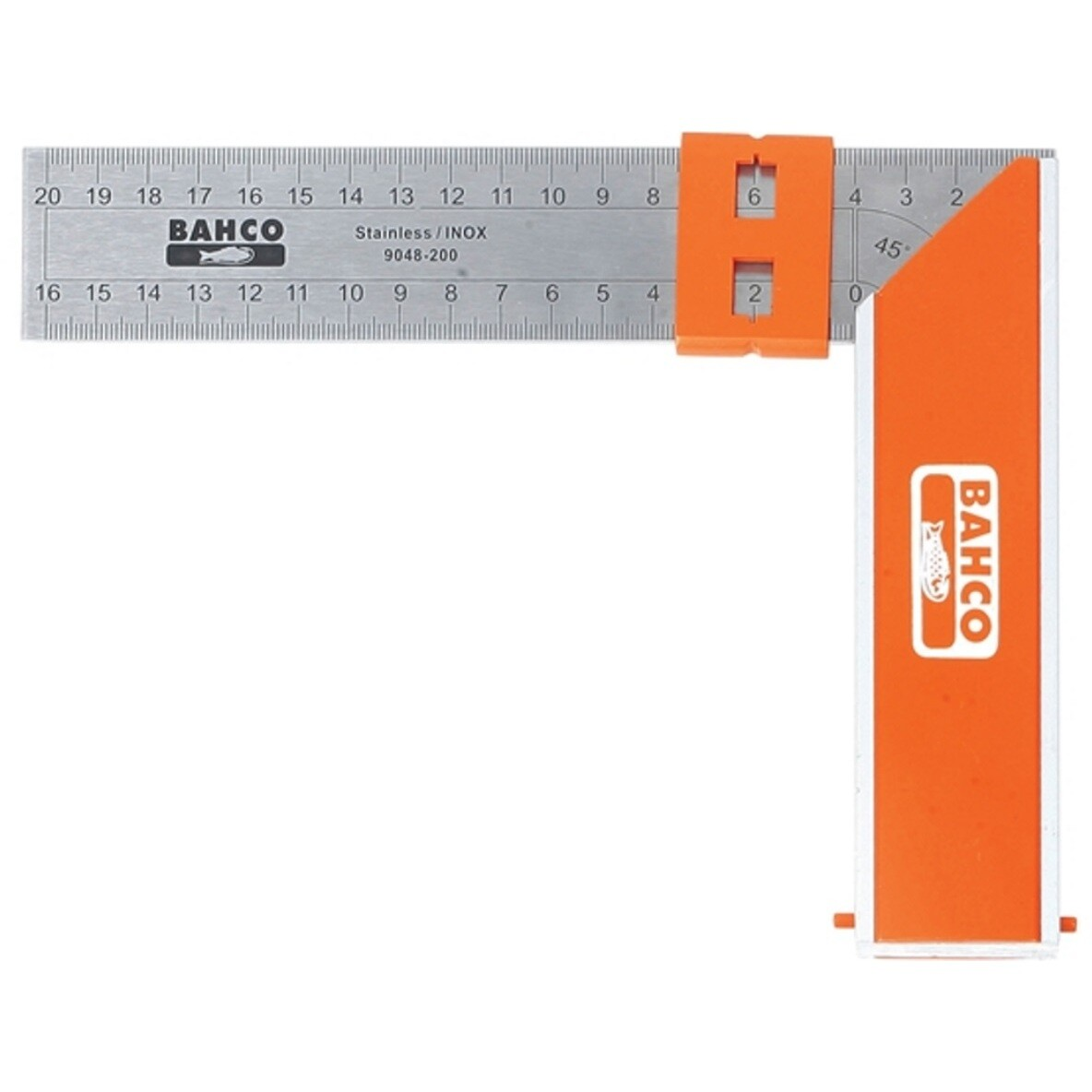 905d54befb7 Bahco 9048-200 Aluminium Block   Steel Try Square 200mm BAH9048200 from Lawson  HIS