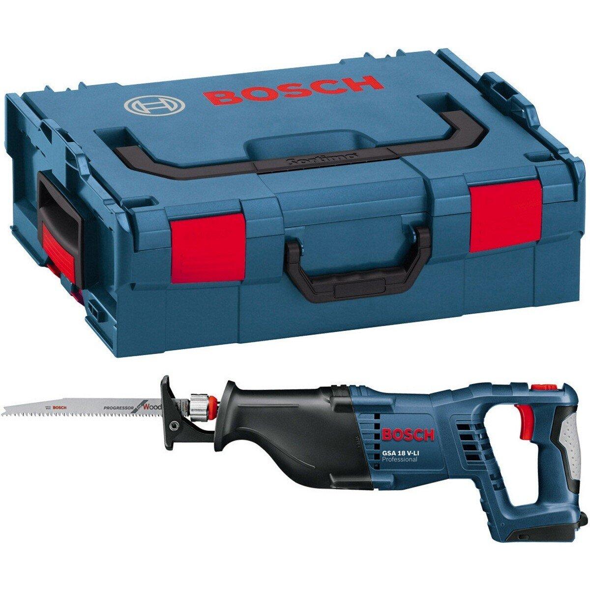 Bosch GSA18 V-LIN Body Only 18V Reciprocating Saw in L-Boxx