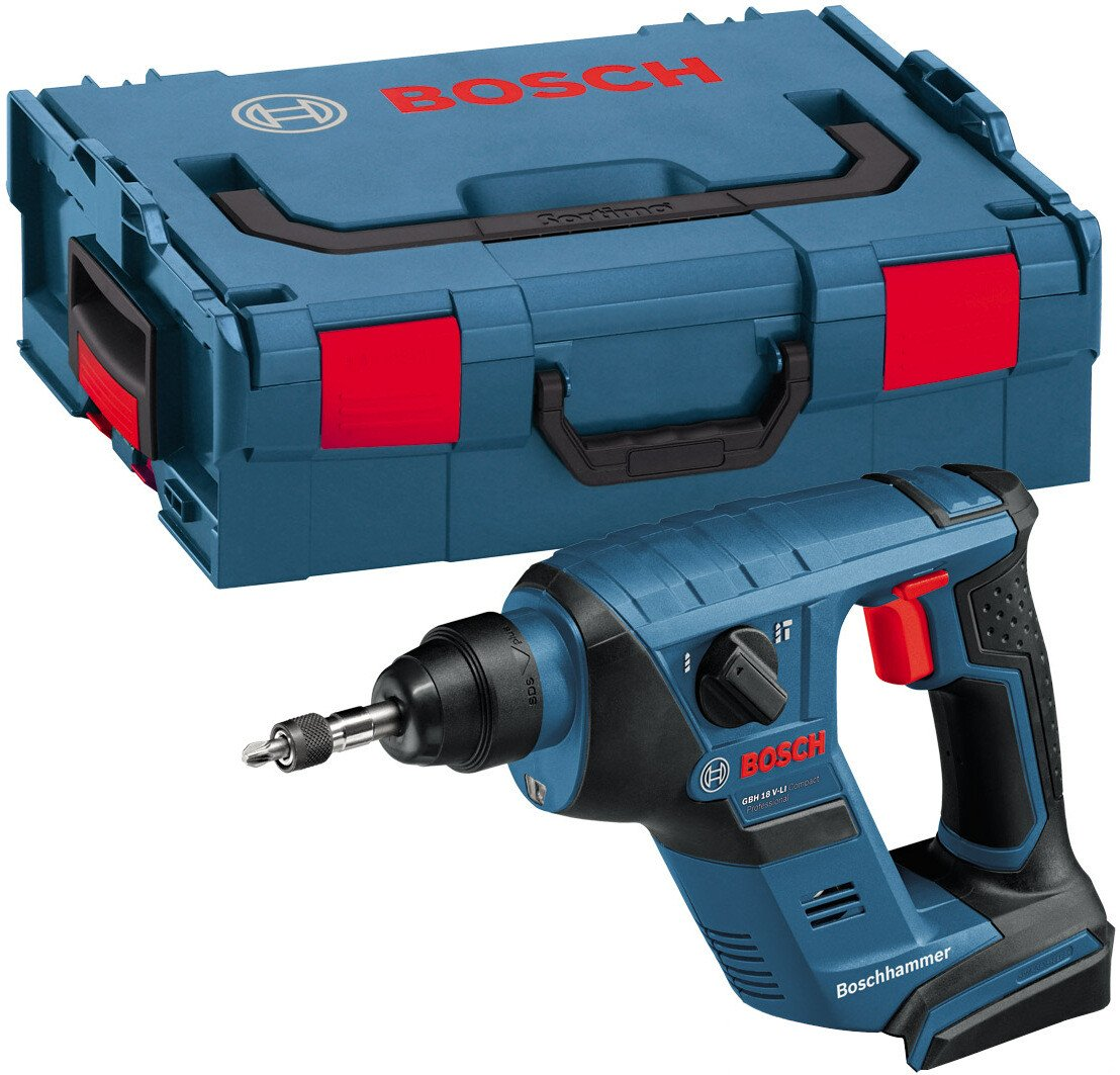 Bosch GBH18V-LICP Body Only 18V Compact SDS+ Hammer Drill in L-Boxx