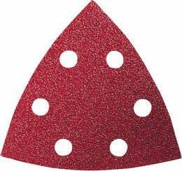 "Bosch 2608607541 Sanding Sheet Set Delta 93 ""Red Wood"" (5 Packs of 10)"