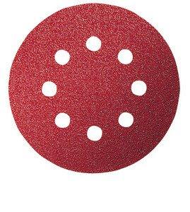 Bosch 2608605645 Red Wood (Velcro), 8 holes. 125x8 G240