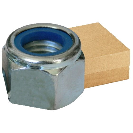 Lawson-HIS NYPM6-500 M6 (6mm) Nyloc Nut Type P BZP Zinc Plated (Box of 500)