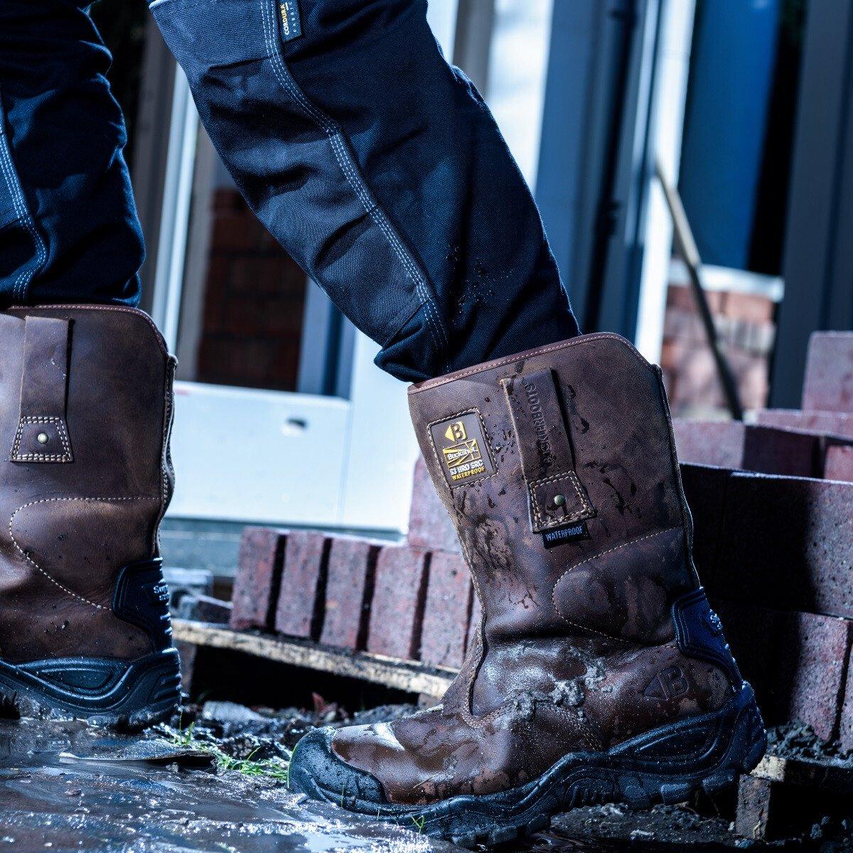 63b56bd6971 Buckler Boots BSH010BR Brown Buckshot 2 Safety Rigger Boot S3 HRO WRU SRC