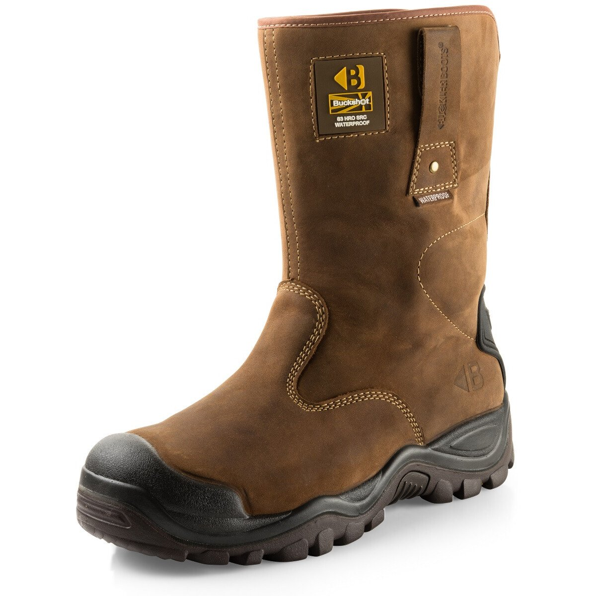 Buckler Boots BSH010BR Brown Buckshot 2 Safety Rigger Boot S3 HRO WRU SRC