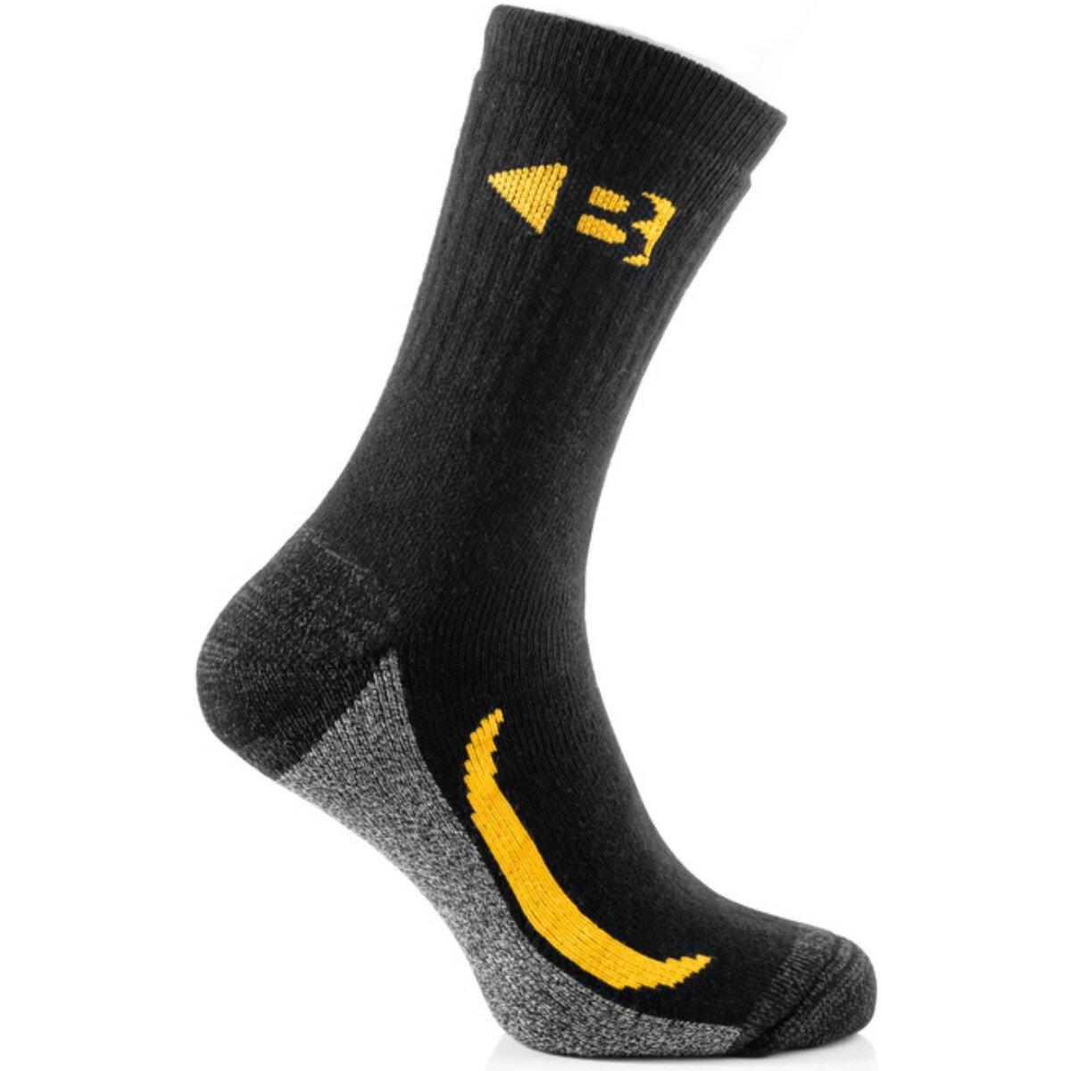 Buckbootz ZBSOKZCORDURABK Cordura Socks Pack of 6 Black