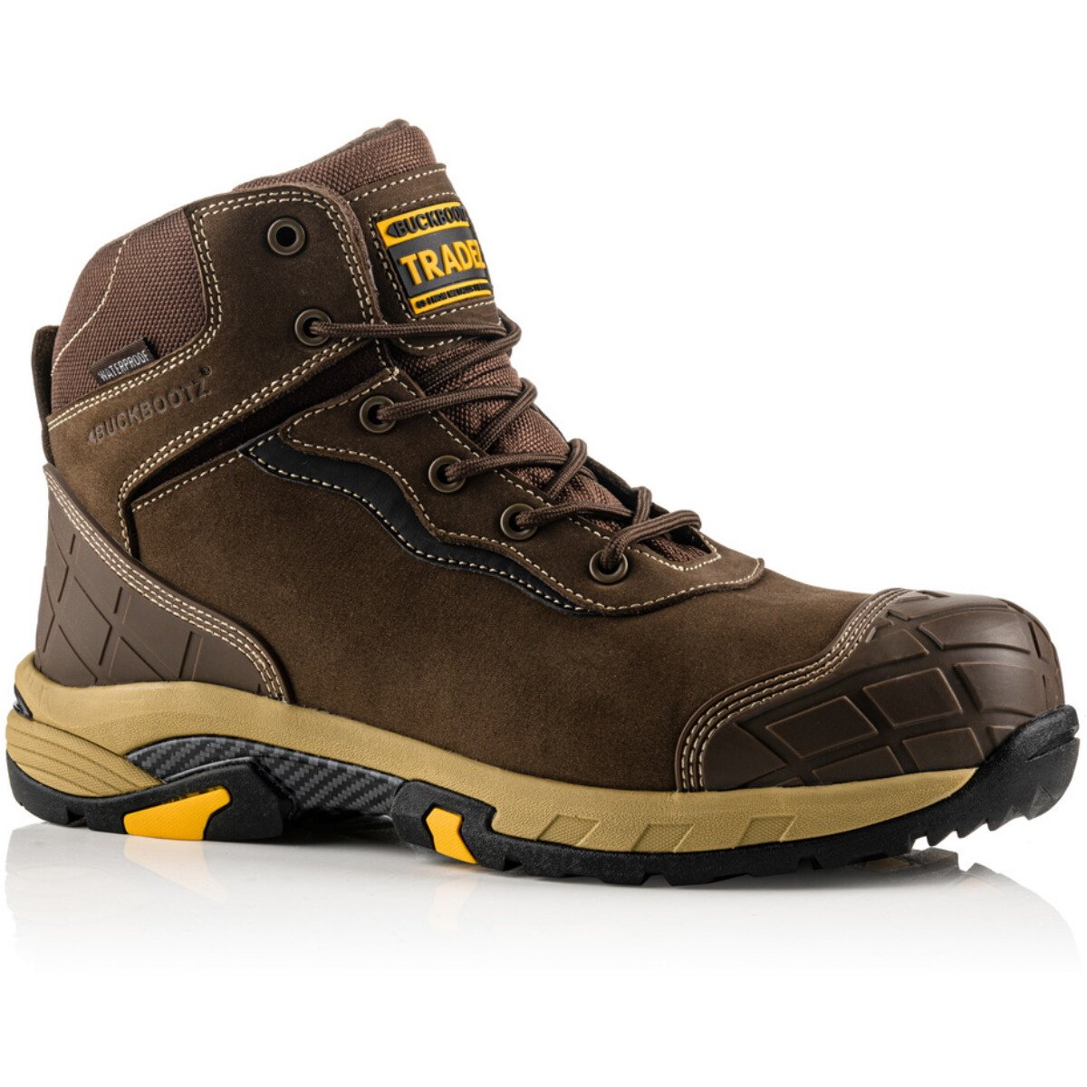 Buckbootz Tradez© BLITZ Lightweight Metal Free Waterproof Leather Safety Boot S3 HRO SRC