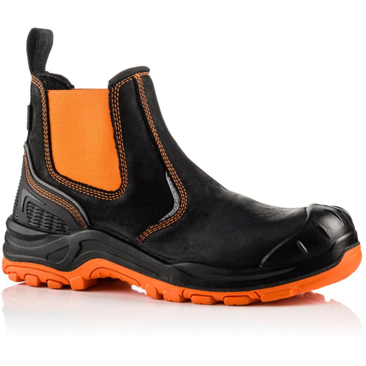 Buckbootz BVIZ3 Buckz Viz Black or Brown Leather/Hi-Viz Cordura S3 Non Metallic Dealer Safety Boot