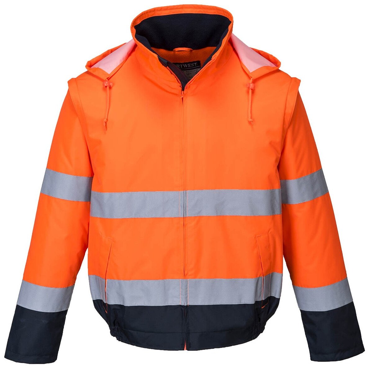 Portwest C464 Hi-Vis Essential 2-in-1 Jacket - Available in Orange or Yellow