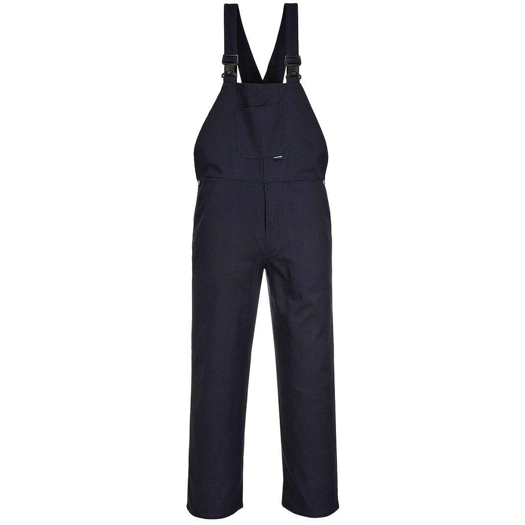 Portwest C881 Bib and Brace 100% Cotton Workwear - Navy Blue
