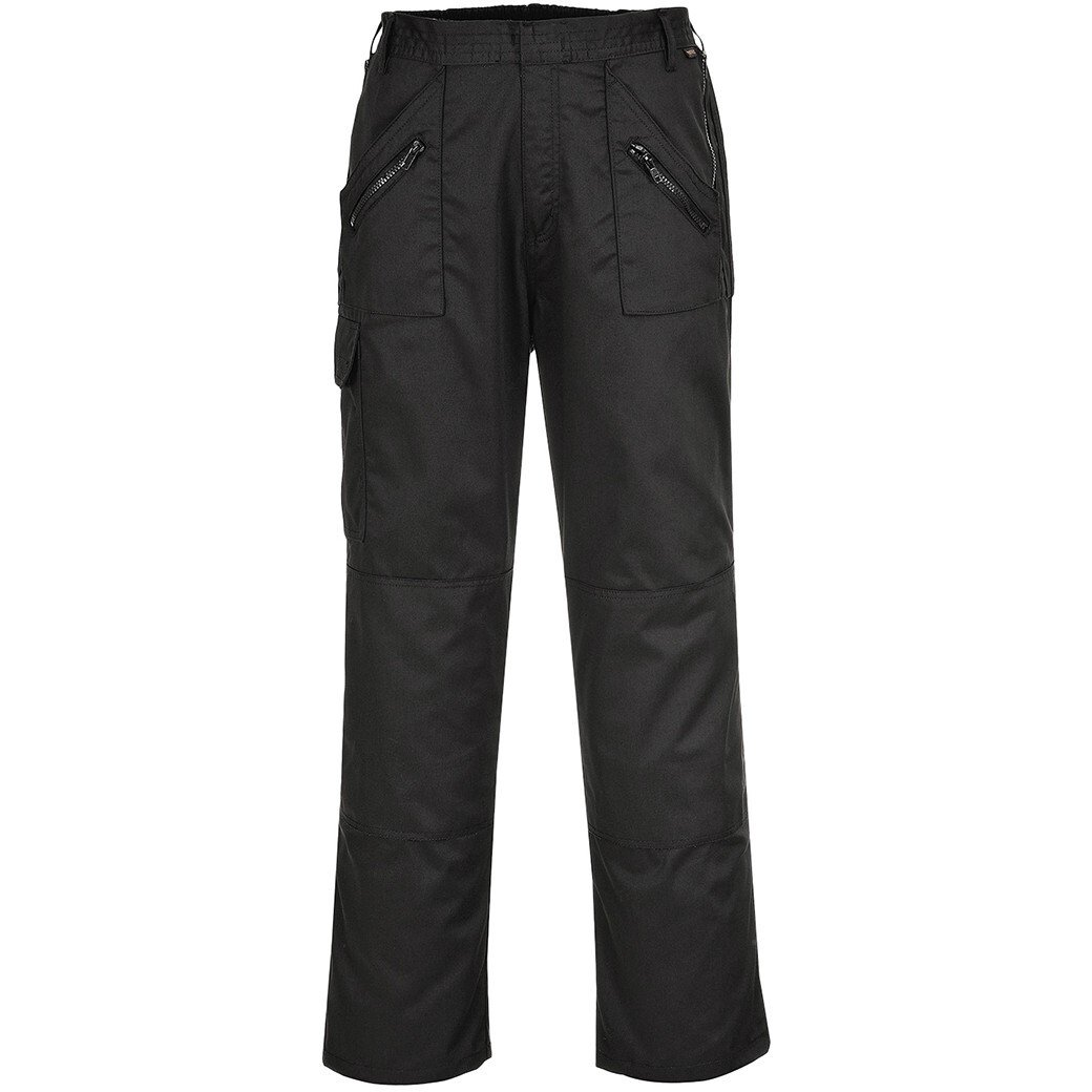 Portwest C887 Action Trousers with Back Elastication - Black