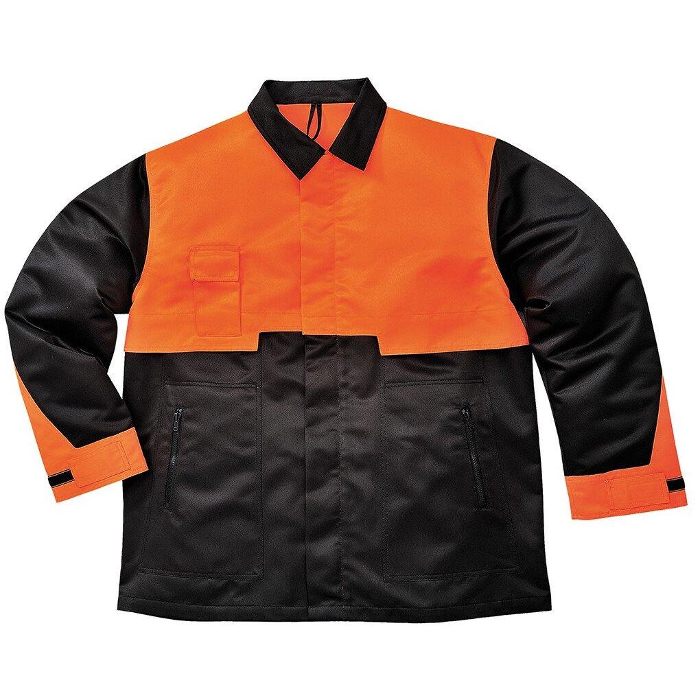 Portwest CH10 Oak Chainsaw Workwear Jacket - Black/Orange