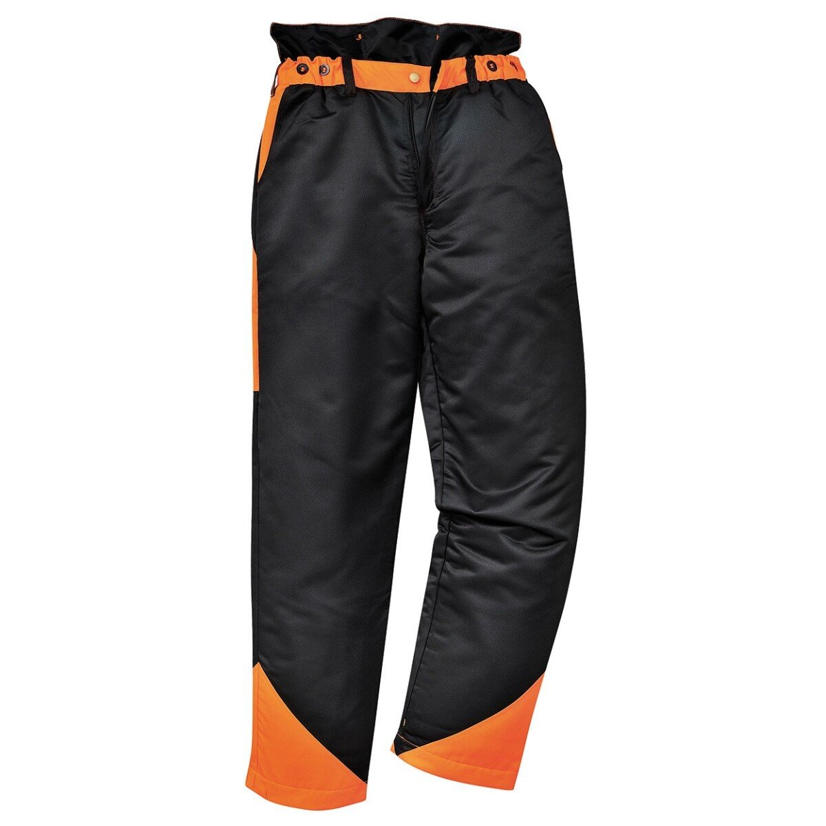 Portwest CH11 Oak Chainsaw Trousers Black/Orange