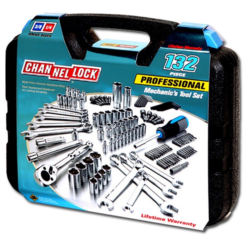 Channellock CHL39067 132 Piece Comprehensive 3/8in Drive Socket and Tool Set