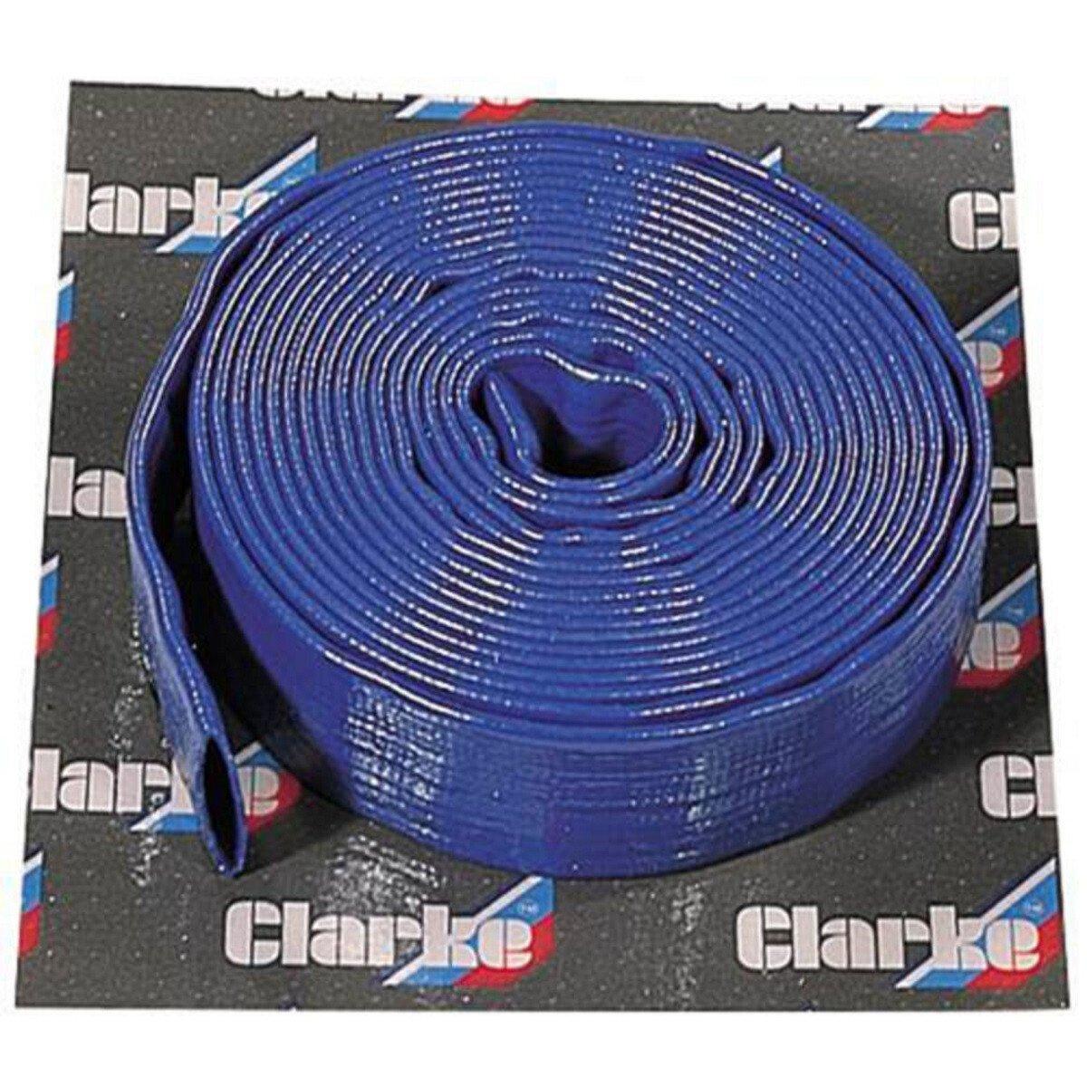 "Clarke 7955155 10m x 1.1/2"" (38mm) Diameter Layflat Delivery Hose"