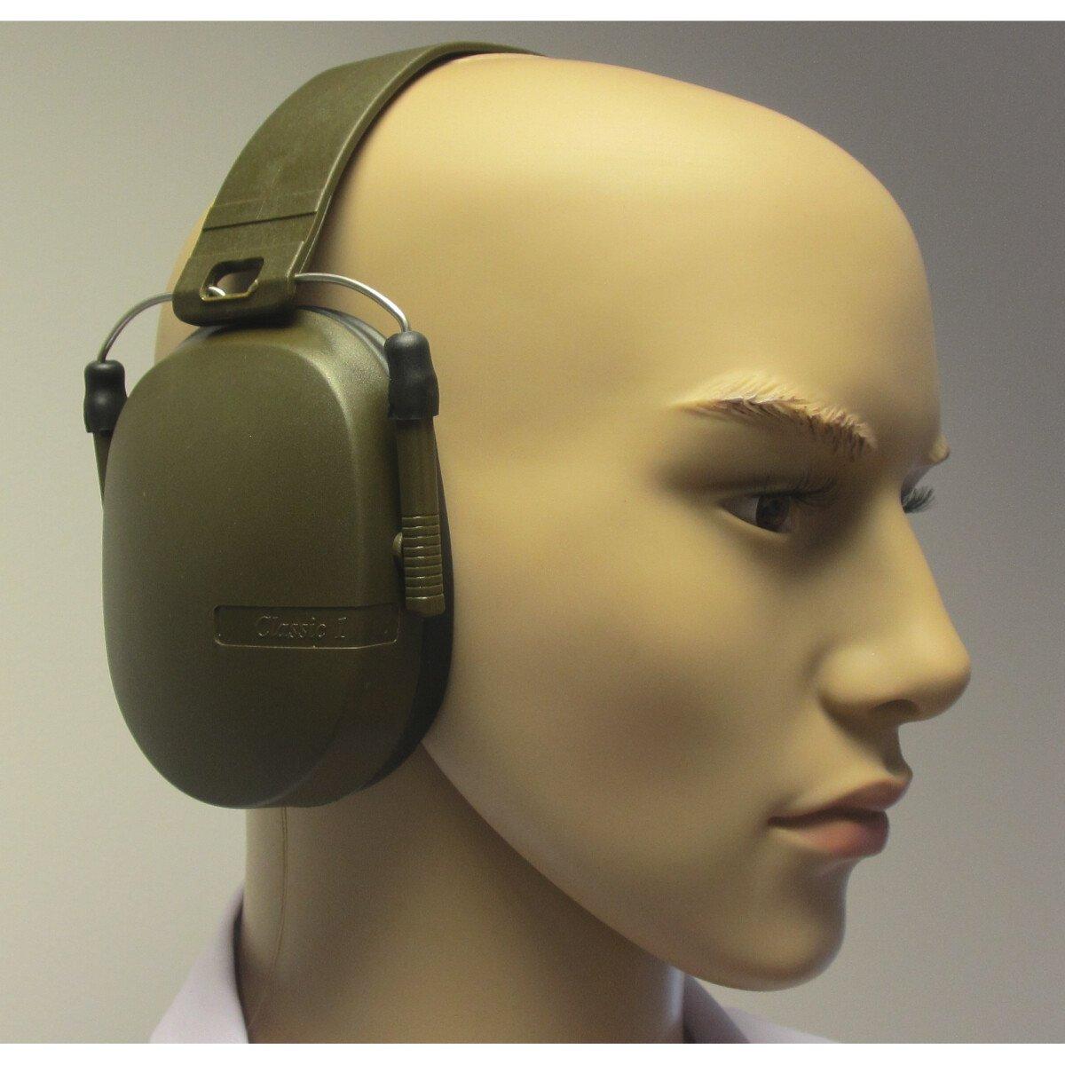 JSP AER010-422-600 Classic 1 Ear Defender Olive Green (SNR 26)