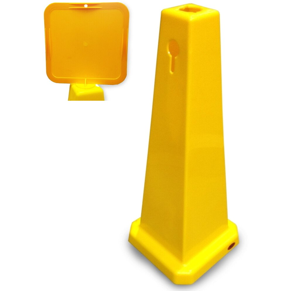"""JSP JCP110 Yellow 25"""" Safety Floor Cone With Sign Holder"""