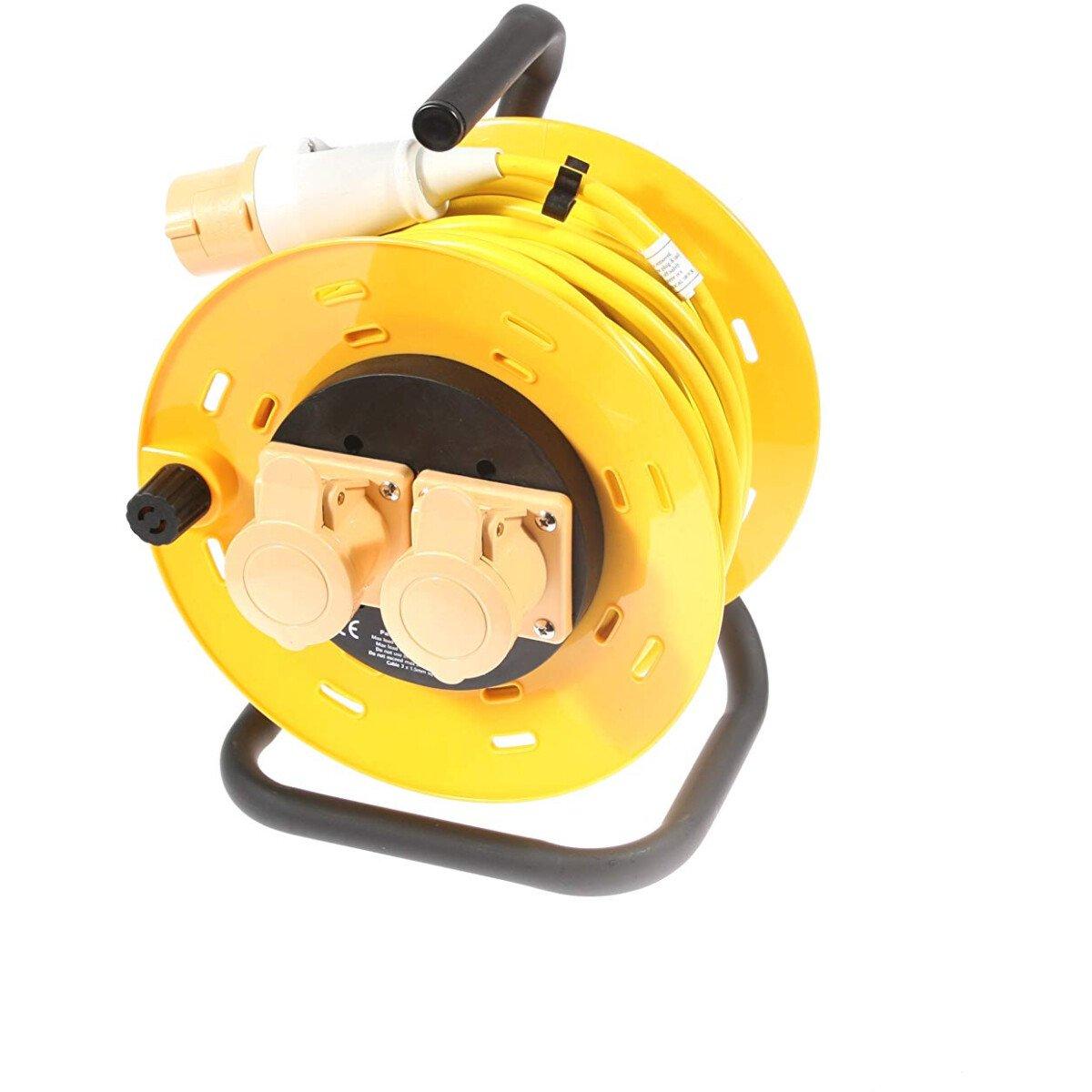 SMJ CR2516 110V Cable Reel 16amp 25Mtr 2 Socket