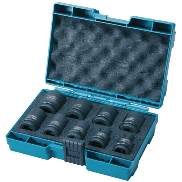 "Makita D-41517 9 Piece Impact Socket Set 1/2"" Drive"