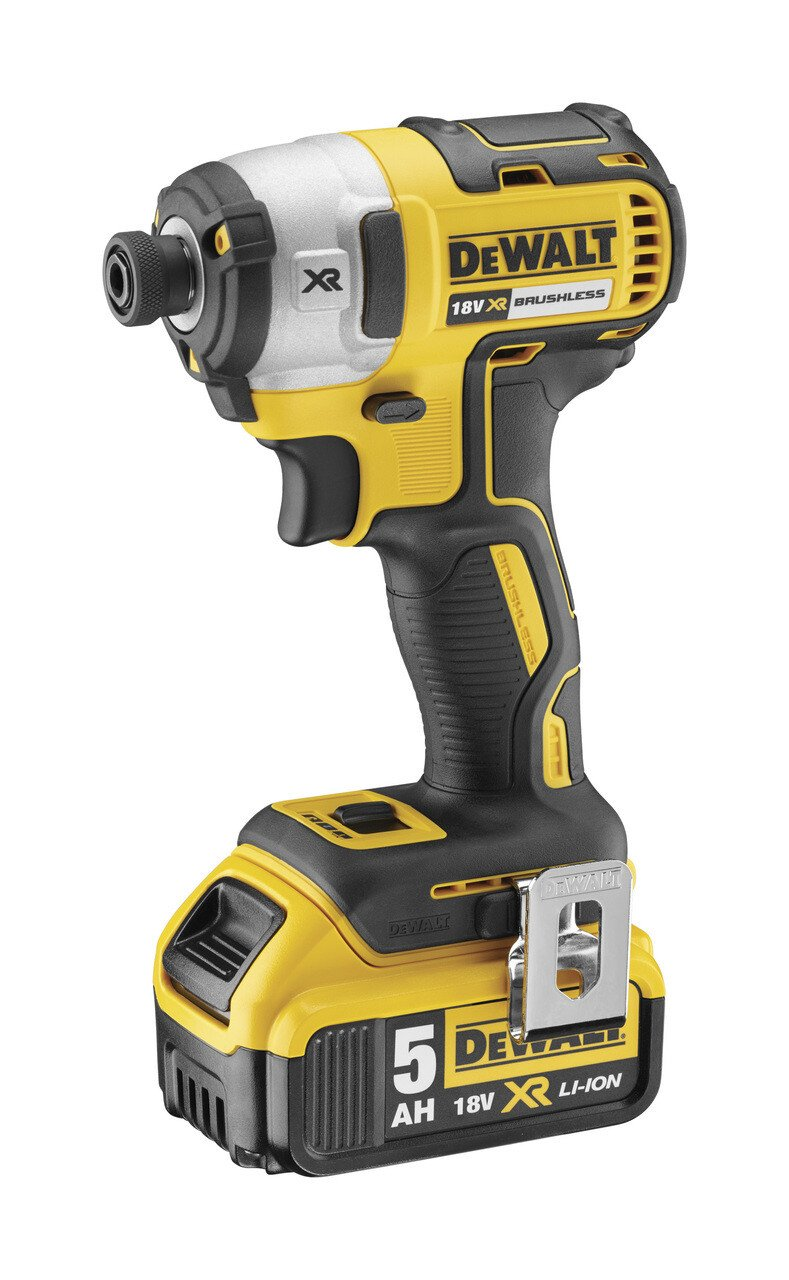 Dewalt DCF887P2 18v Li-ion XR Brushless Impact Driver with 2 x 5Ah Batteries in TSTAK Compatible Kitbox