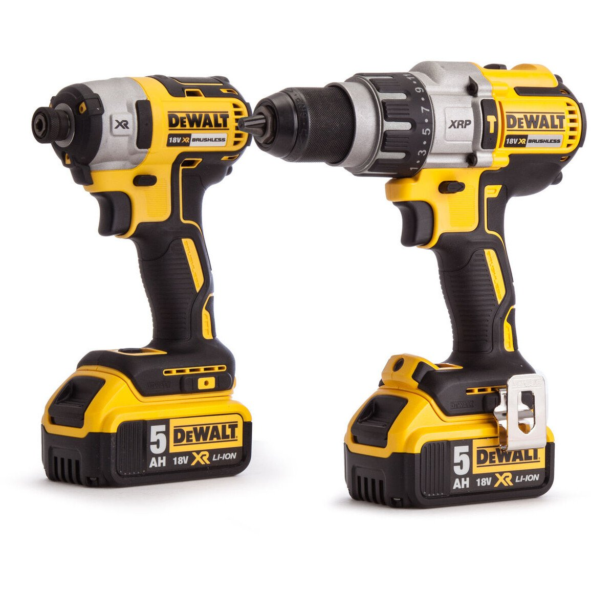 DeWalt DCK276P2-GB XR Brushless Kit DCD996 Combi Hammer and  DCF887 Impact Driver with 2 x 5.0Ah Batteries