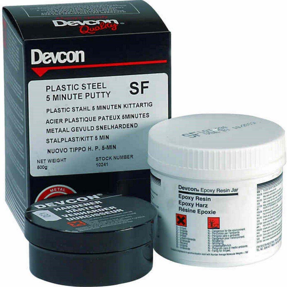 Devcon 10241 Plastic Steel 5-Minute Putty (SF) 500g (1x500g)